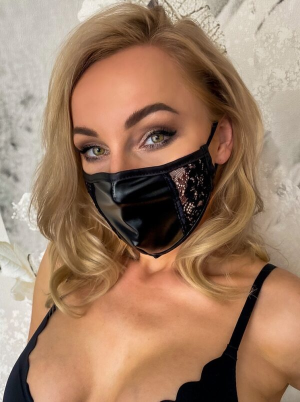 """Gesichtsmaske """"Mund-Nasen-Maske"""" mit Spitzeneinsatz"""