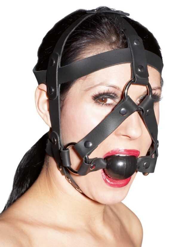 Kopffessel aus Echtleder