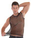 Shirt aus grobem Netz