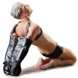 Armsack aus Lederimitat mit verstellbaren Schulterriemen