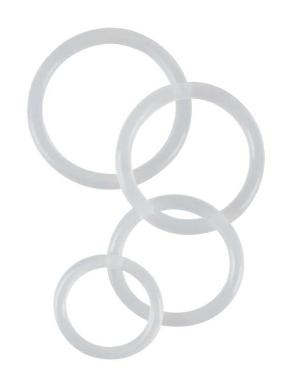 """4-teiliges Penisringset """"Clear Cock Rings"""""""