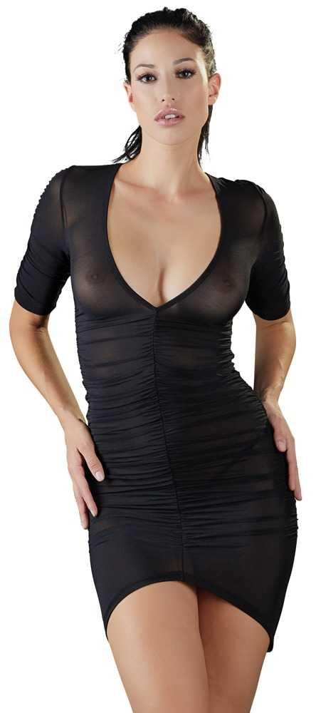 Kleid mit Raffung vorne und hinten