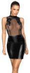 Kleid im trendigen Mix aus Powernet und Powerwetlook