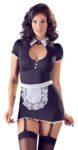 Dienstmädchen-Kleid mit Strapsen und Schürze zum Binden