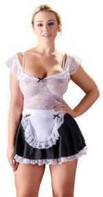 Kellnerinnen-Kostüm im Materialmix
